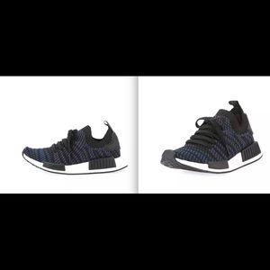 005ad2adf292 Adidas Women s NMD R1 Sneakers Black Blue 10 NIB